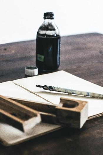 Tinta para plumas, características y tipos