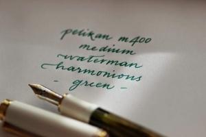 Tinta color verde clásico para pluma estilográfica fuente