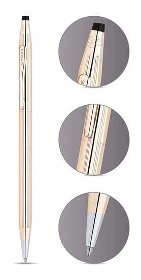 Bolígrafo de oro para mujer, fino, elegante, Cross