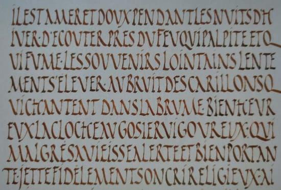 Caligrafía Romana Rústica