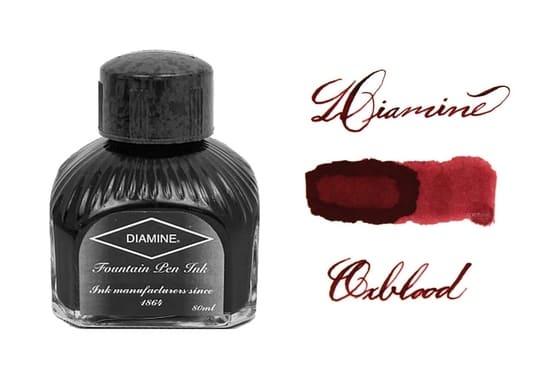 Mejor tinta roja oscura para pluma