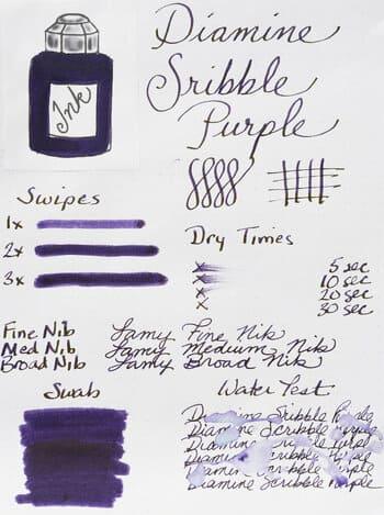 Mejor tinta púrpura para pluma estilográfica fuente tinta oscura y formal