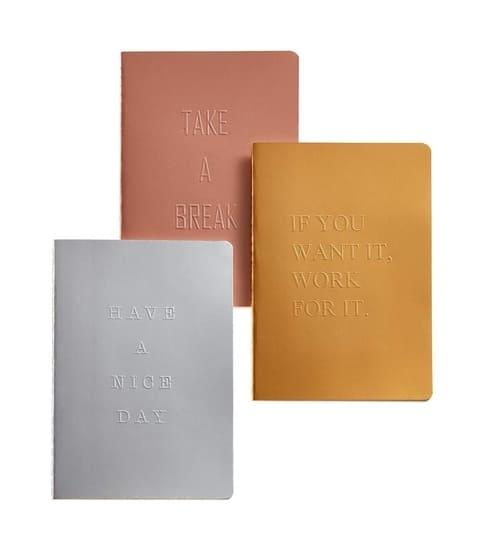 Libretas color metal papel apto para plumas