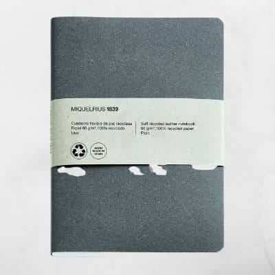 cuaderno libreta para estilográfica reciclado ecológico cubierta de piel hecho en España