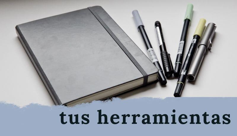 recomendación material útiles herramientas para escribir bien qué usar