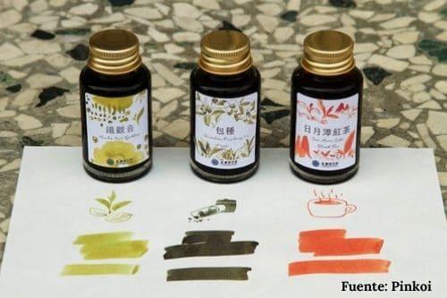 tintas tinteros estilográficas olor esencia fragancia té tea